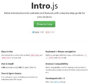 Screenshot http://usablica.github.io/intro.js/
