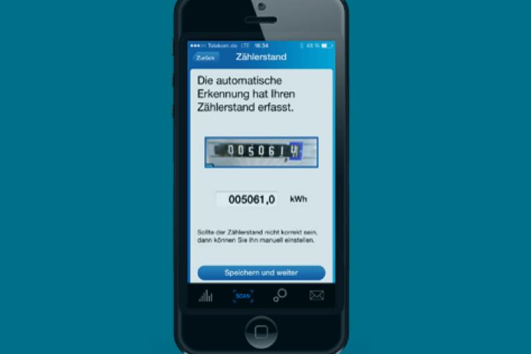 von uns entwickelte EnergieTracker-App