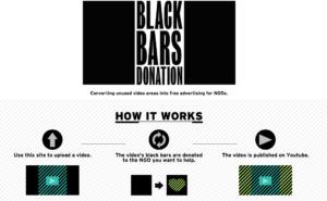 Screenshot der Webseite Black Bars Donation