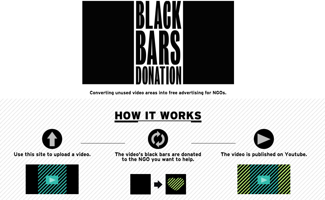 Screenshot der Webseite Black Bars Donation