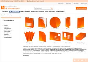 Webportal auf PrintQ Magento Basis