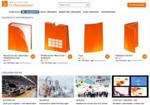 Webseite heenemann-druck.de nachher