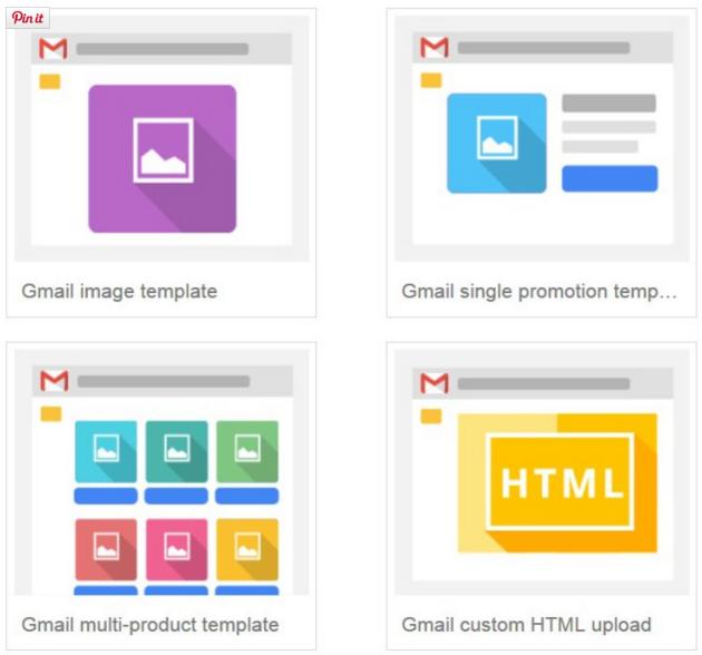 Gmail Ad Typen Auswahl
