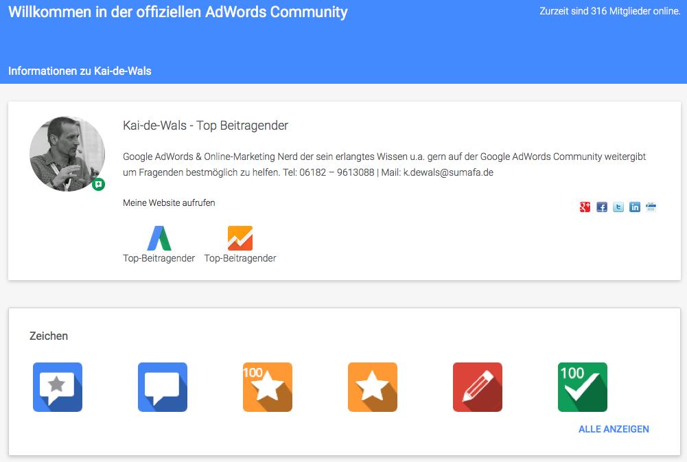 KaideWals AdWords Community