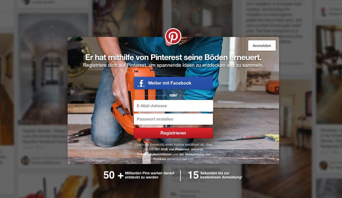Pinterest CTA als Beispiel