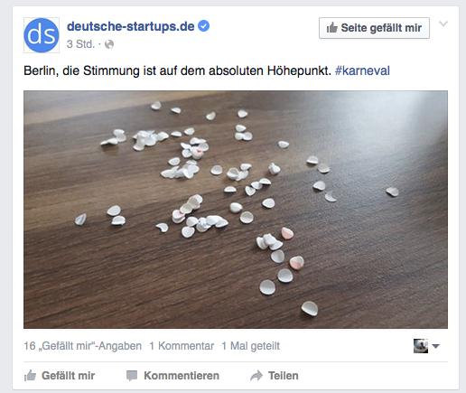 Startups Karneval Beispiel Online Social Media Marketing