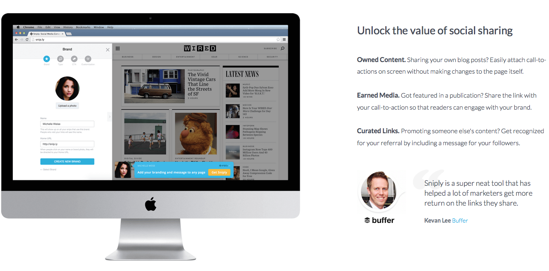 Sniply Screenshot Content Curate IronShark KMU