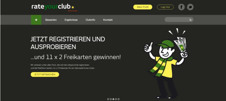 Rateyourclub – die Ratingplattform im Web und als App