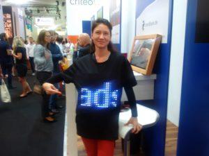 IronShark mit LED Shirt auf der DMEXCO Foto