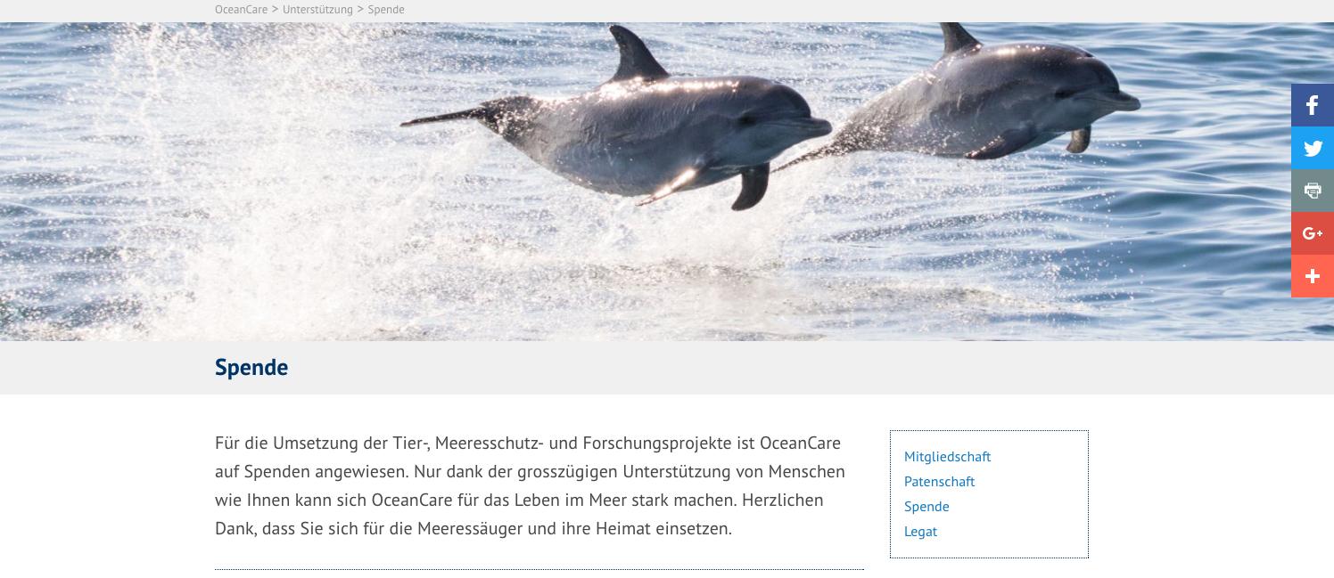 Wofuer werden Spenden verwendet bei OceanCare