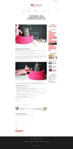 Blog Unterseite nach Relaunch mit Multimedia Content