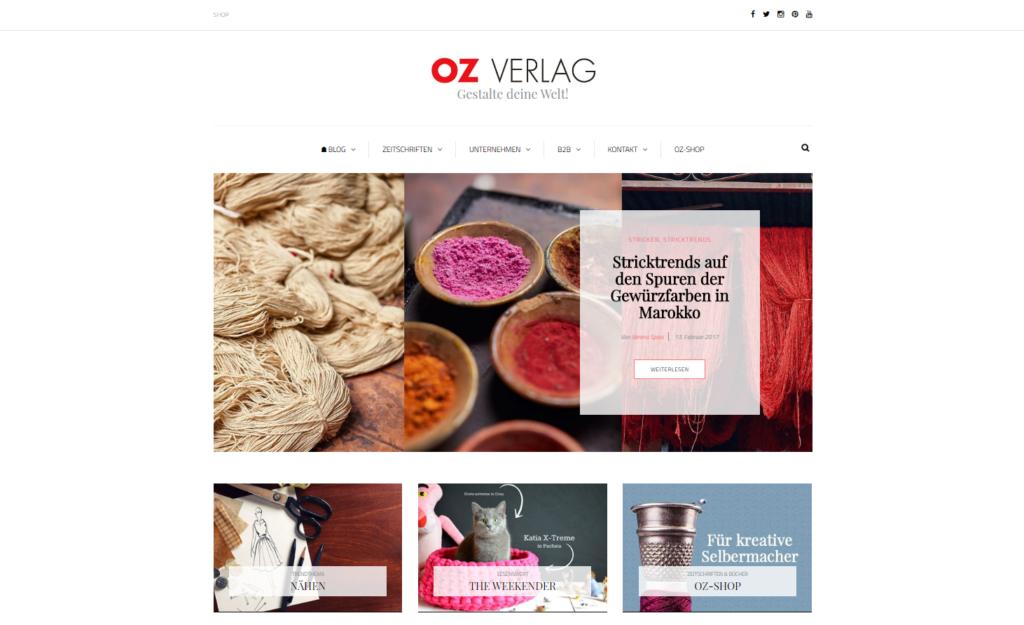 Startseite mit Grid Anordnung und Blog Layout nach dem Relaunch auf WordPress Basis