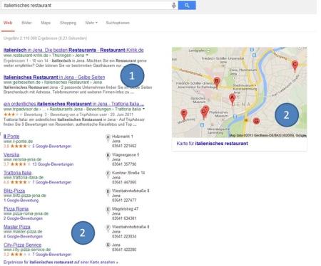 Suchergebnisanzeige bei Google