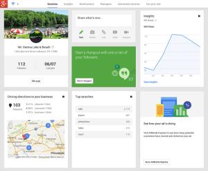 Das neue Dashboard von Google