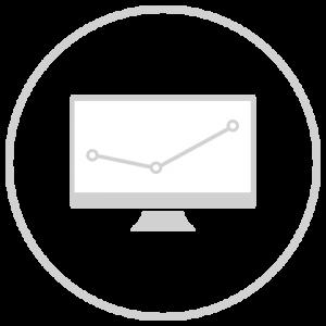 Icon eines Graphen auf einem Desktop