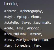 Hashtag-Trend wie bei Twitter