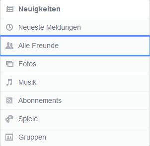 Screenshot: Der neue Facebook Newsfeed