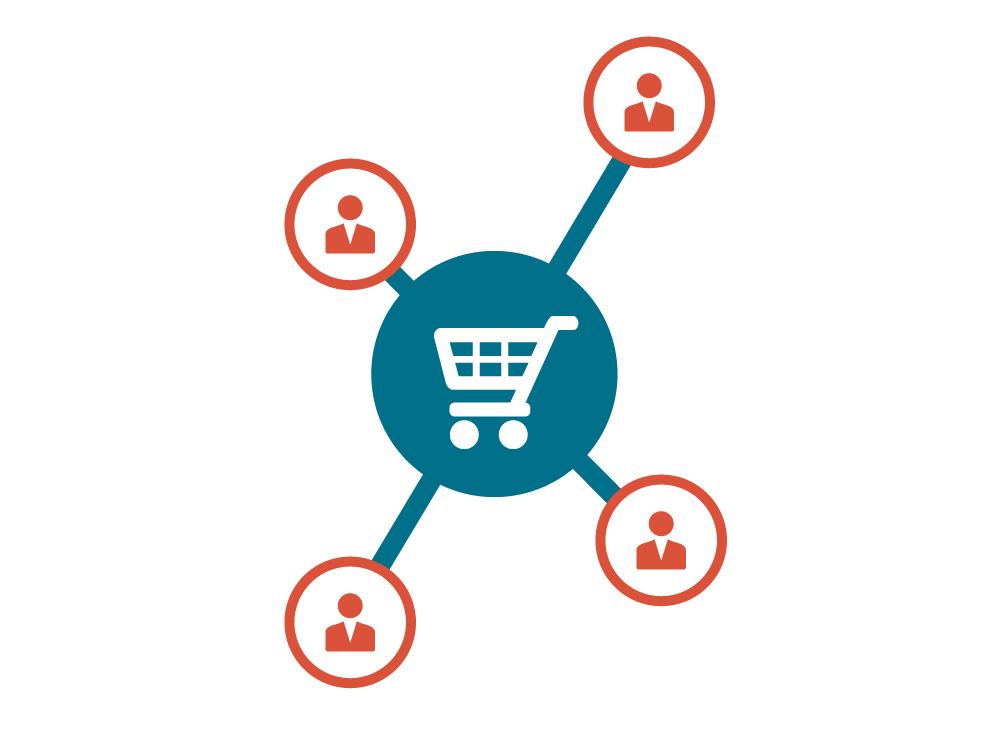 Mit E-Commerce Lösungen treten Sie in den Kontakt zu Ihren Kunden.