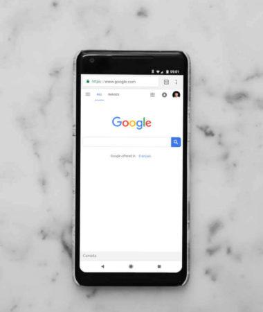Google Suchergebnisseite auf Smartphone