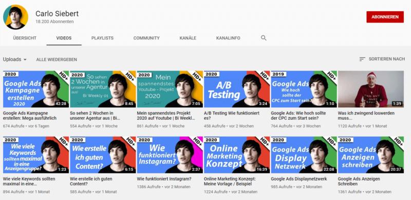 Wiedererkennungswert schaffen für YouTube Videos
