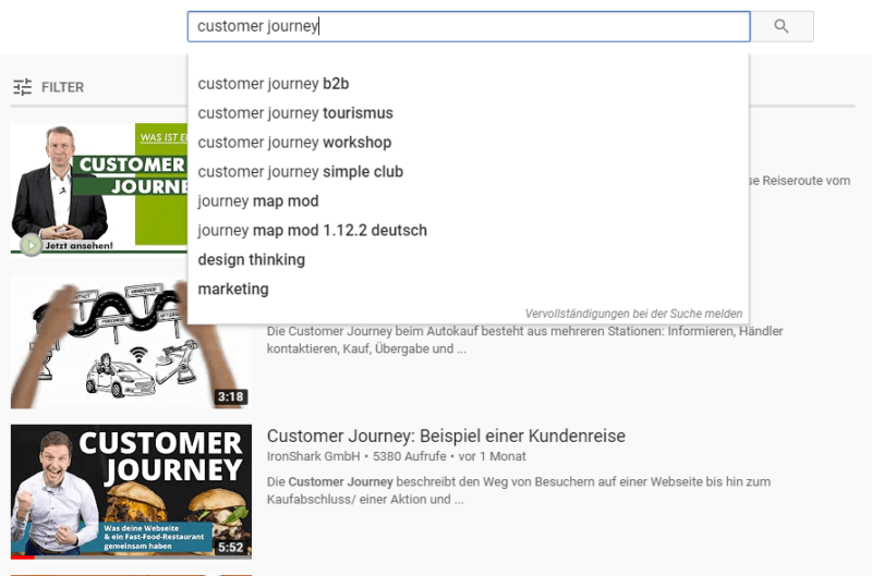 YouTube Video mit Suggest Funktion optimieren