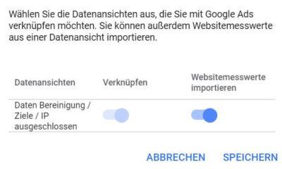 Conversions tracken durch die Verknüpfung von Google Ads und Analytics
