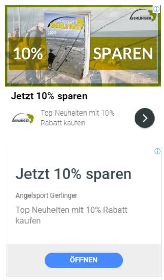 Beispiele für Anzeigen im Displaynetzwerk