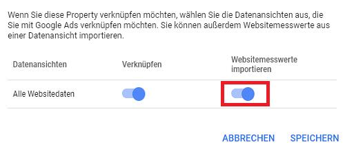 Website Messwerte importieren