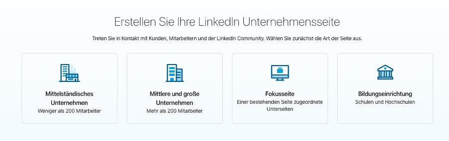 LinkedIn Firmenprofil anlegen