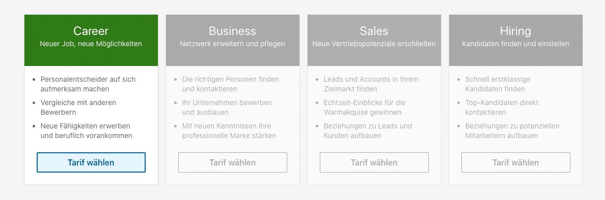 LinkedIn Unternehmensprofil: Kosten und Varianten