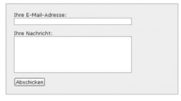 Kontaktformular mit einfachem CSS styles