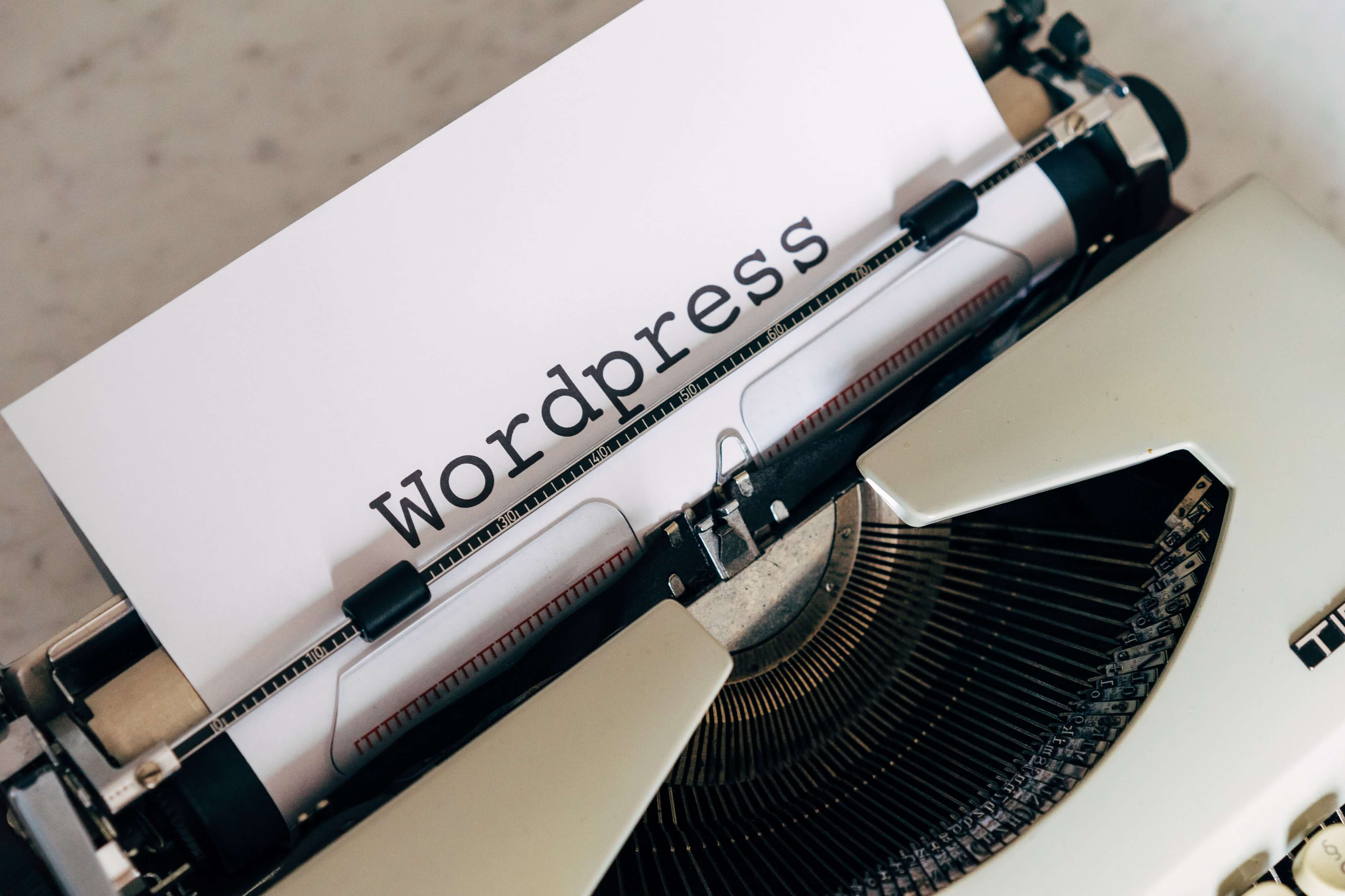 WordPress als Typo.